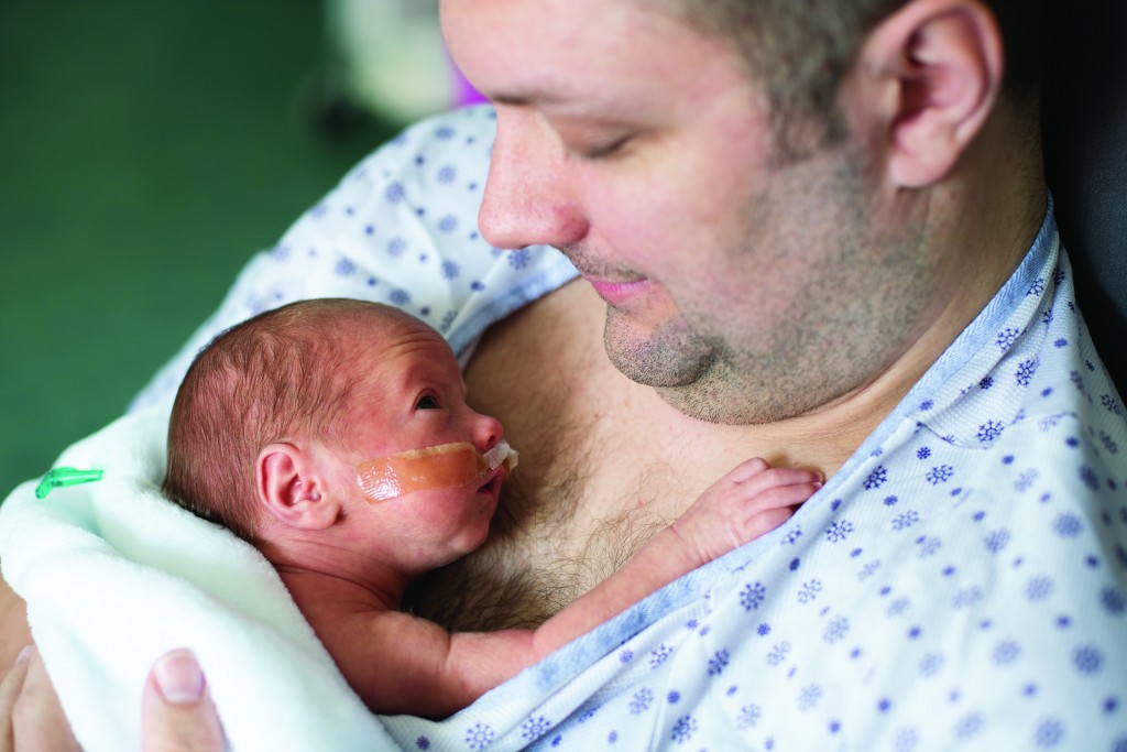 NICU baby with dad
