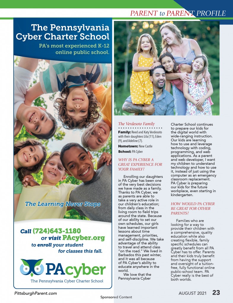 Aug 21 Issue Pa Cyber Parent To Parent Profile Aug 21
