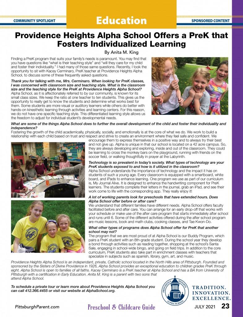 July 21 Issue Community Spotlight